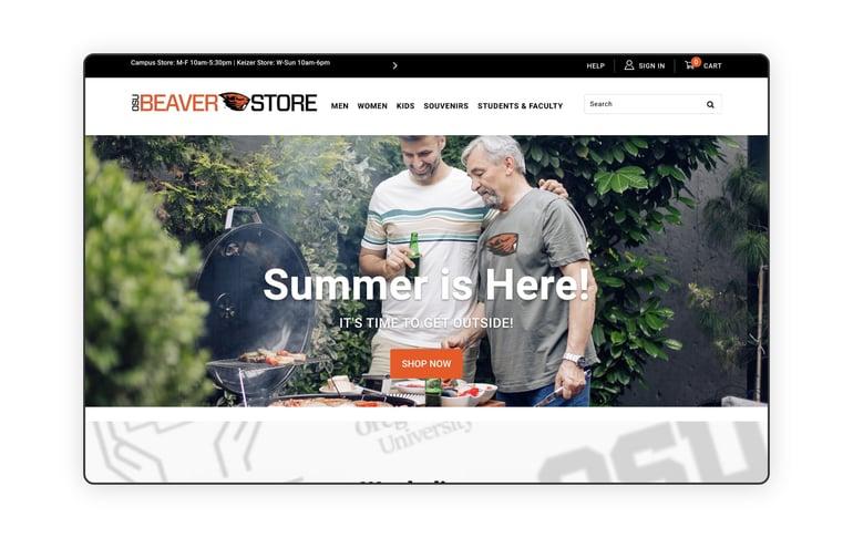 screenshot of OSU Beaver Store homepage