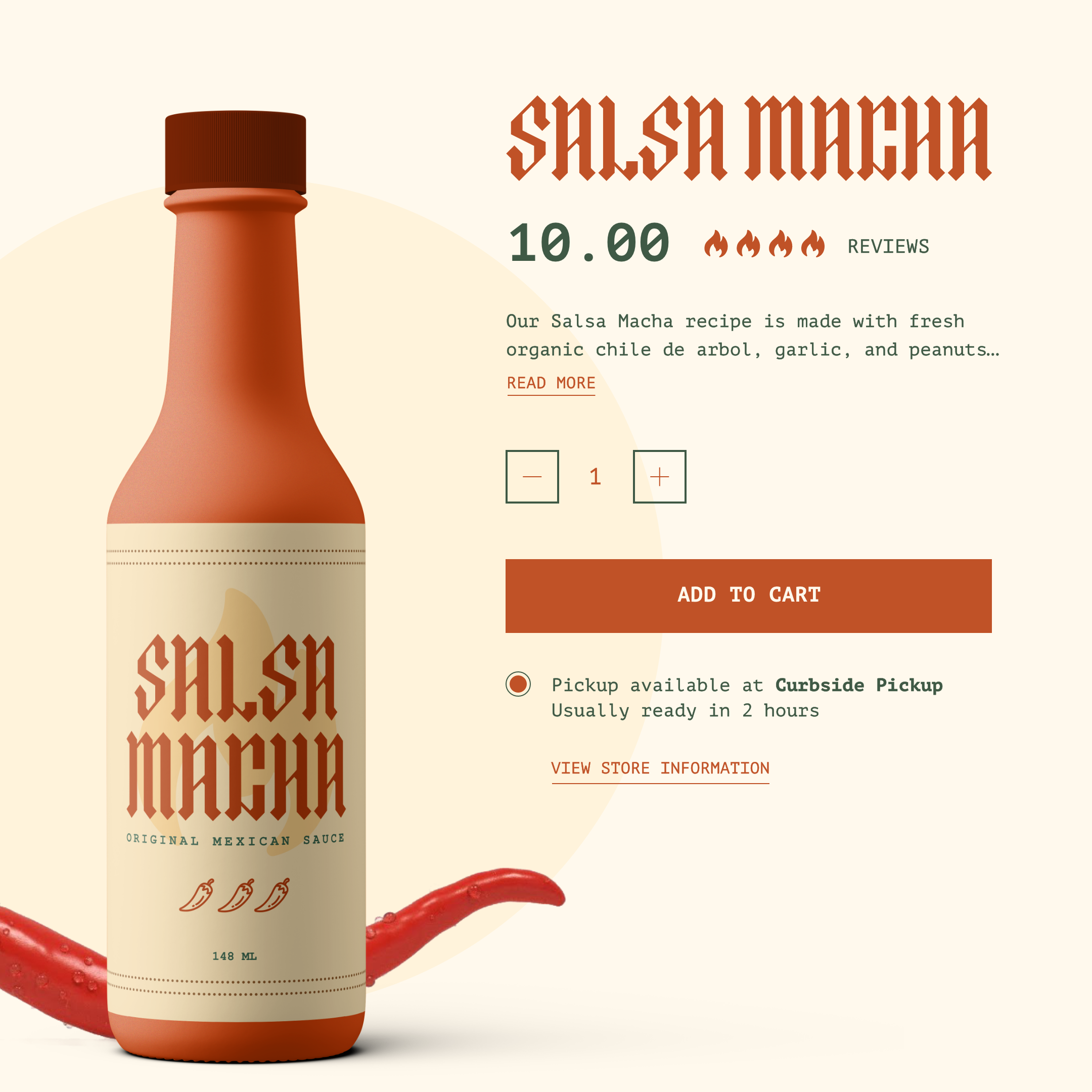 product page for salsa