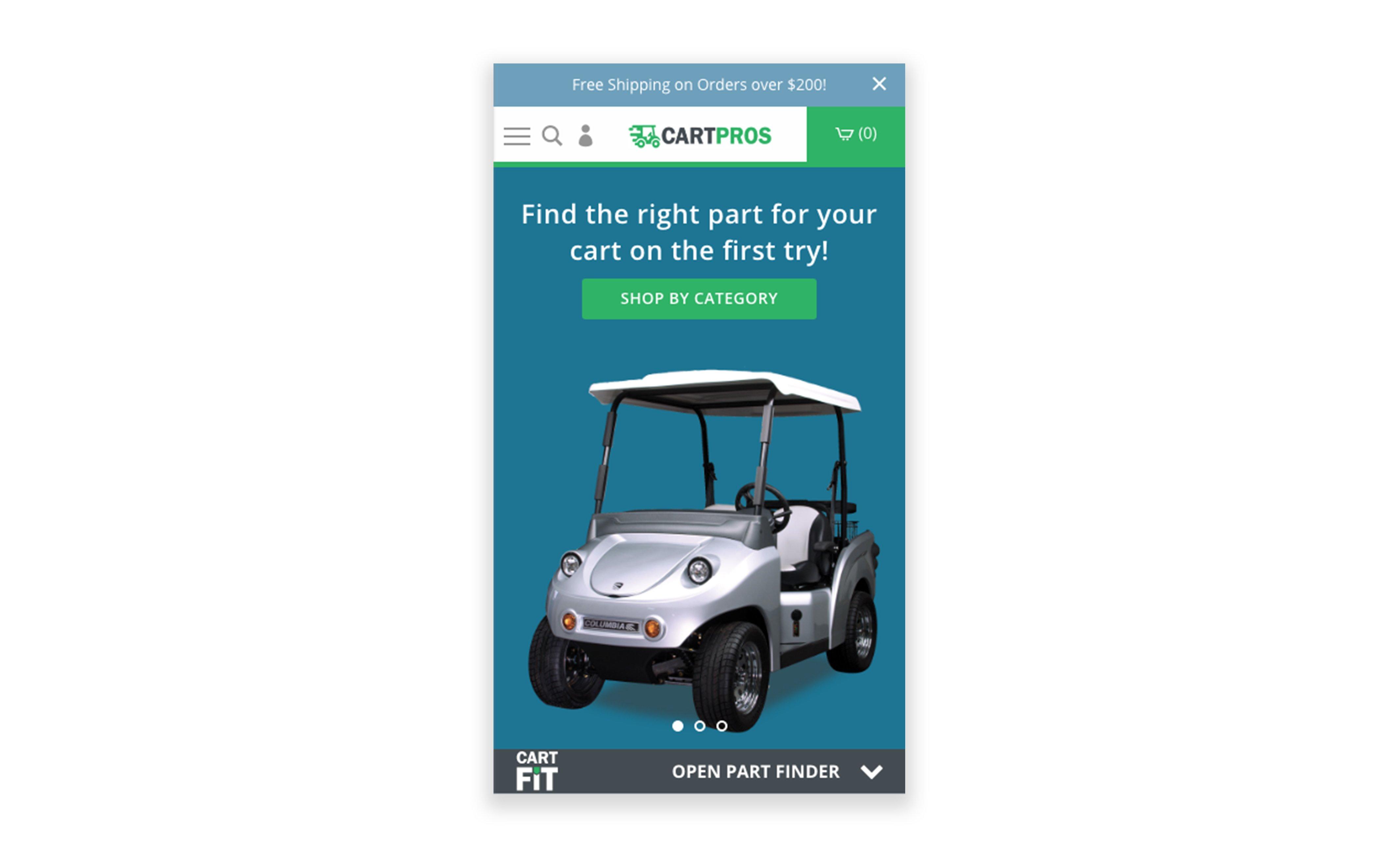 Cart Pros website