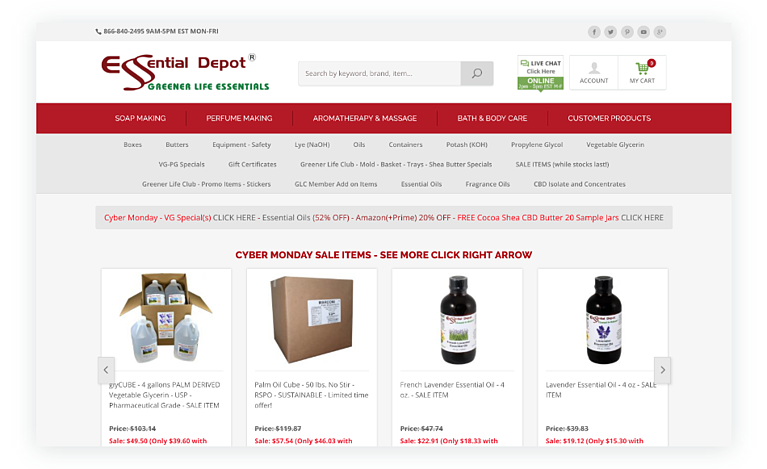 Soapmaking Supply Gifts from essentialdepot.com
