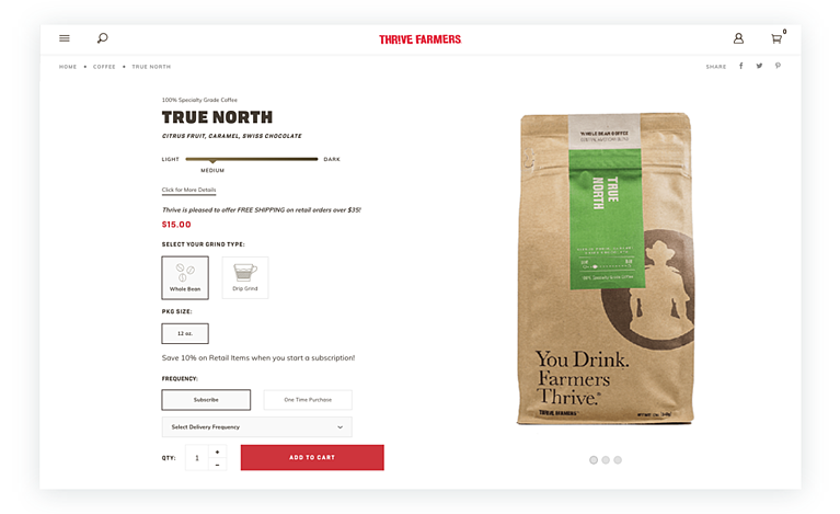 Sustainably Sourced, Farmer-Direct Coffee from ThriveFarmers.com
