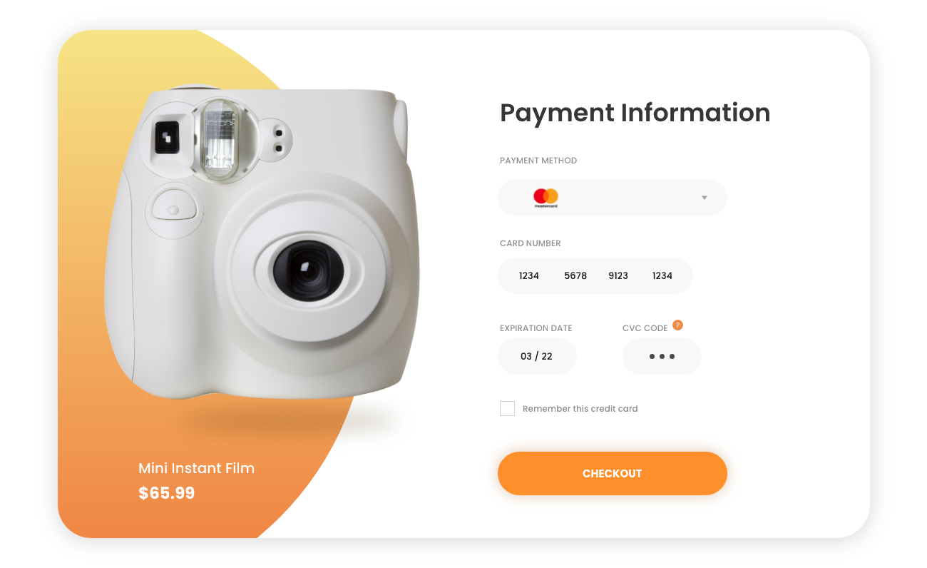 payment information page