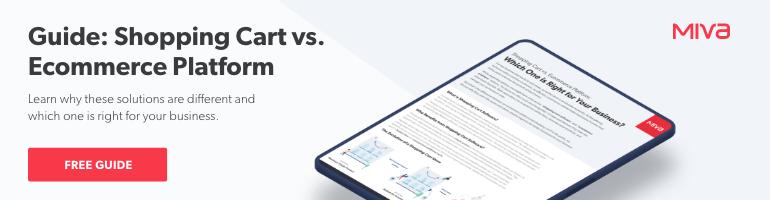 Shopping Cart vs. Ecommerce Platform   Free Guide