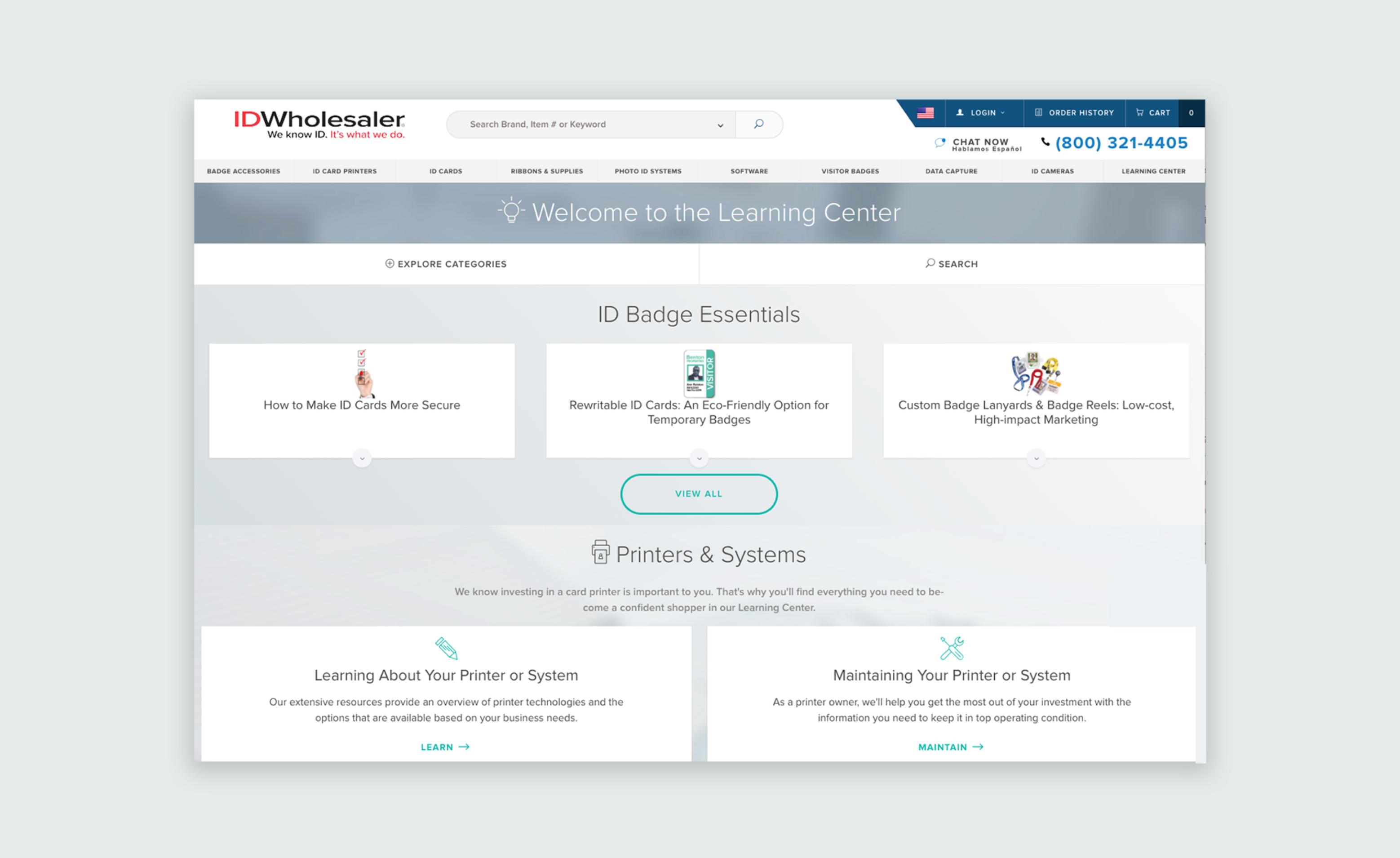 ID Wholesaler website