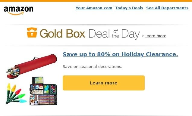 How Amazon uses email design in email marketing