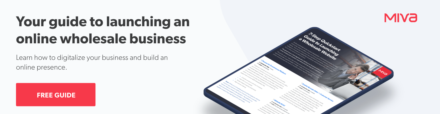 Your guide to launching an online wholesale business | Free Guide