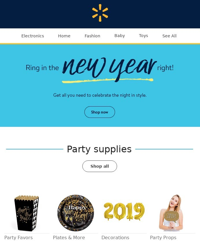 How Walmart uses email design for email marketing