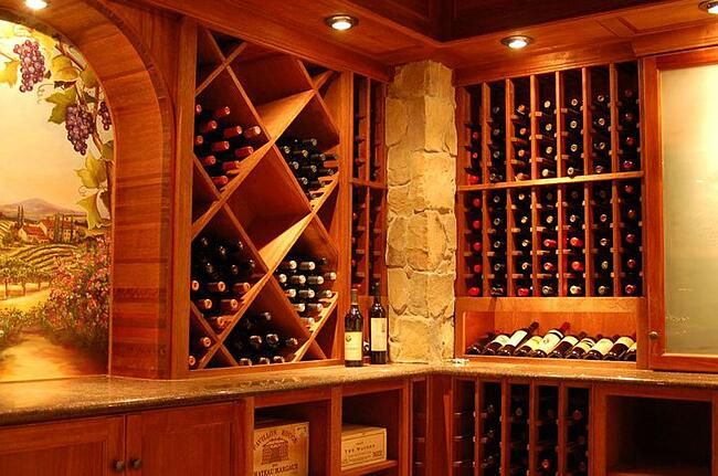 Photo of a wine store