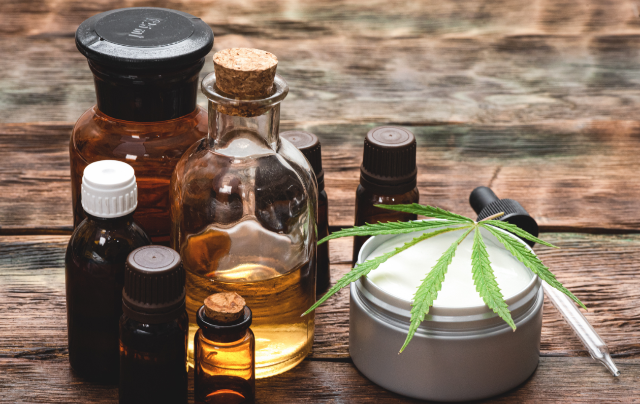 CBD oils, balms, and other products