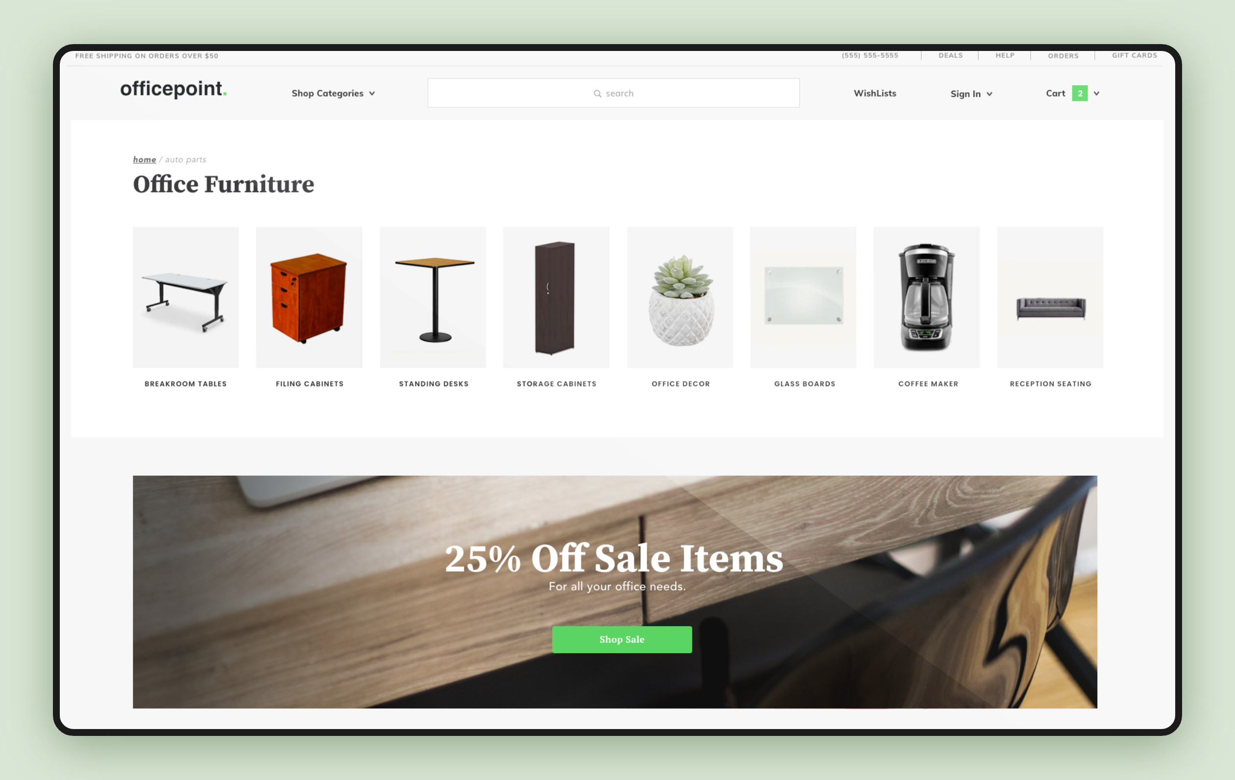 Online furniture website and customer experience