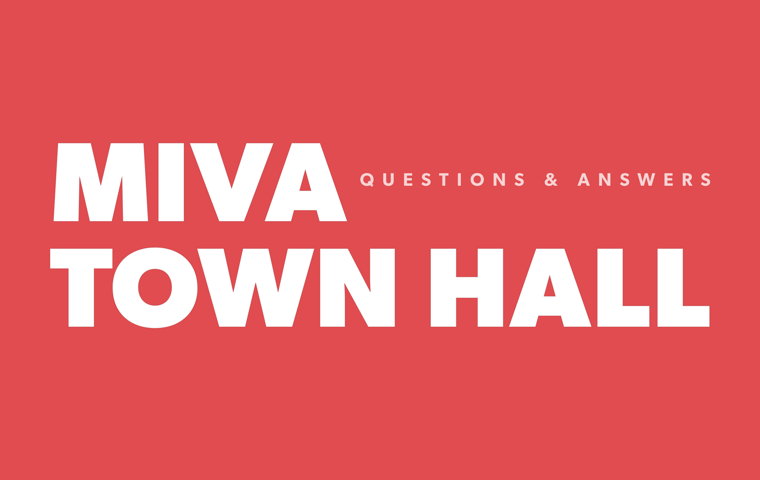 Miva Town Hall Questions + Answers