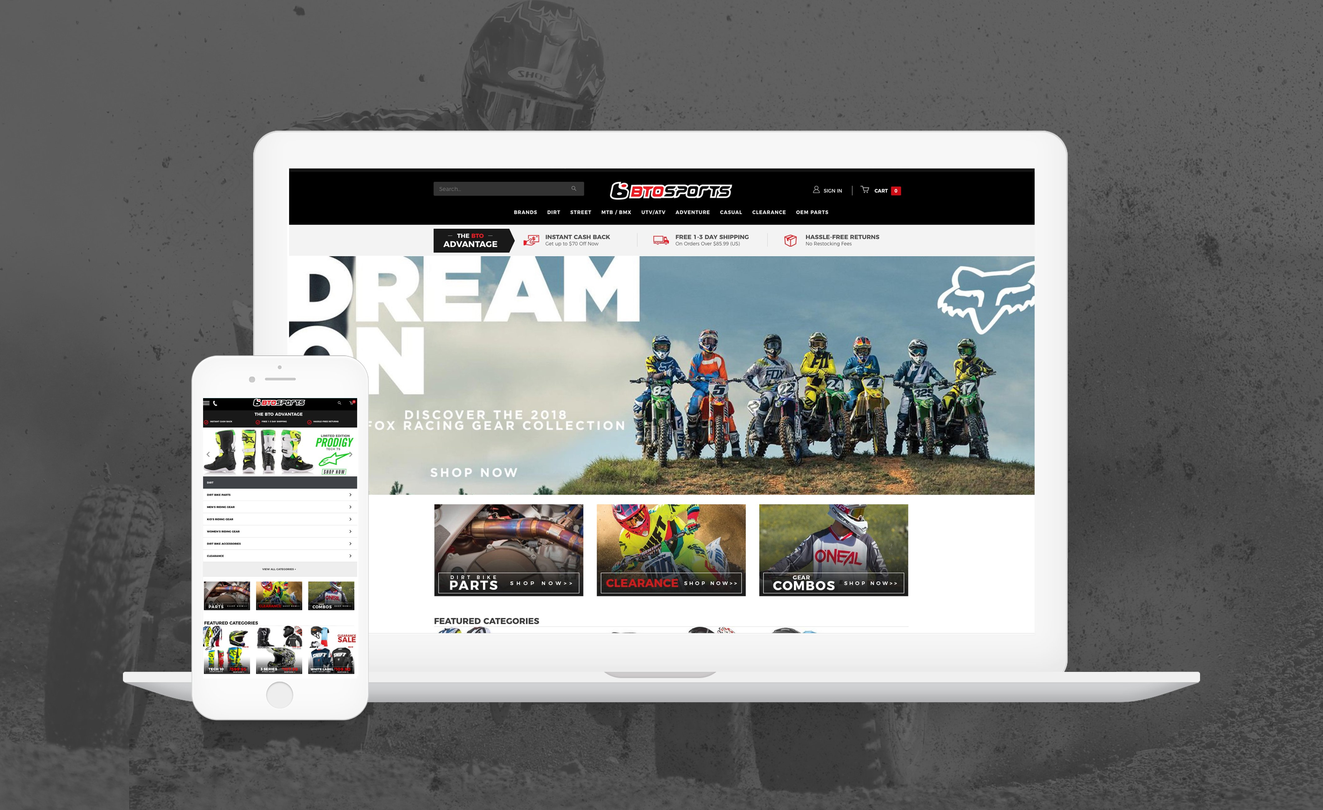 Automotive Website on Laptop