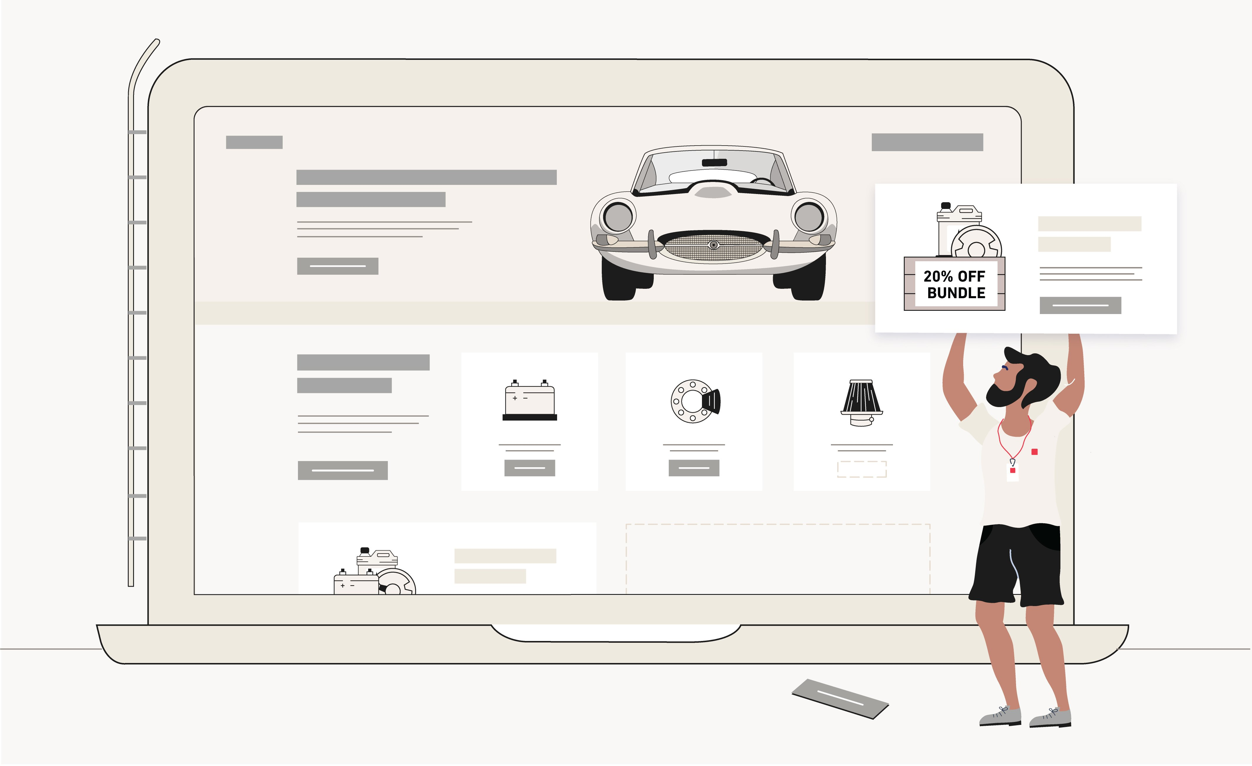 Ecommerce platform illustration