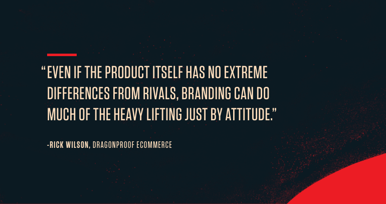 Importance of ecommerce branding quote from Dragonproof Ecommerce