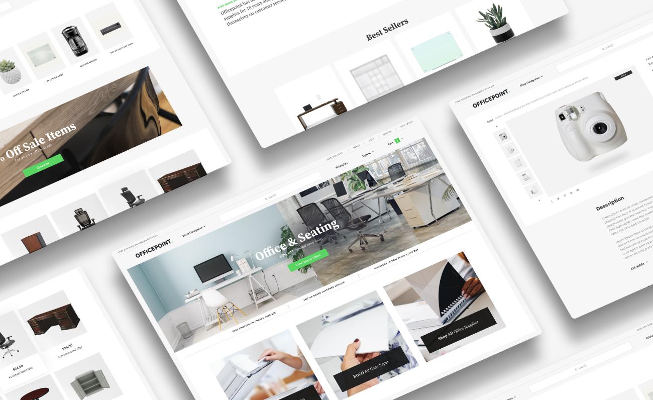 Ecommerce design mock-ups