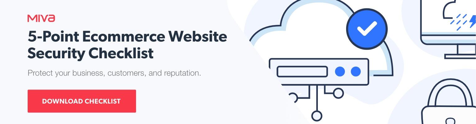 Free checklist: 5-point ecommerce website security checklist