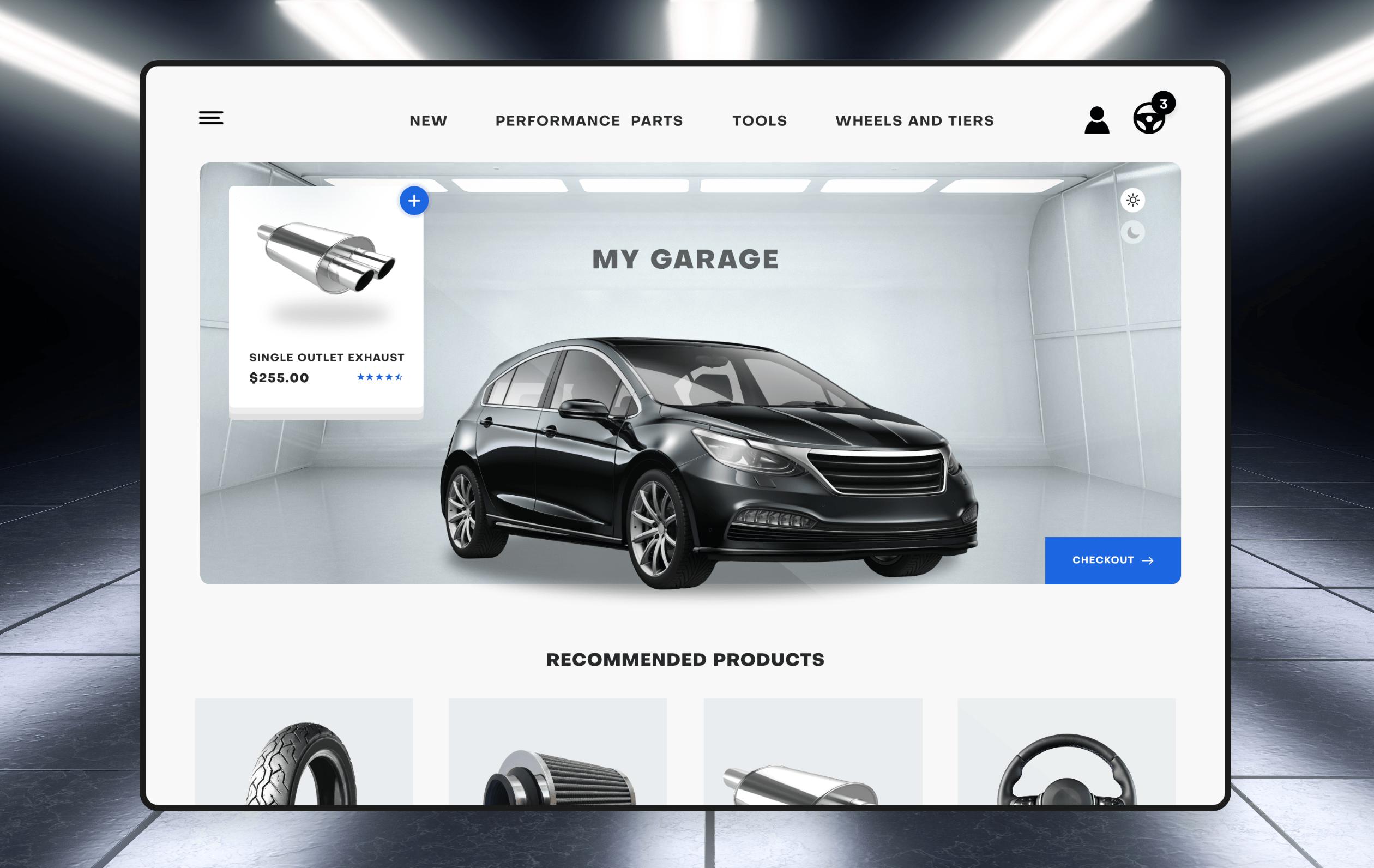 Screenshot of a B2B website that sells automotive parts