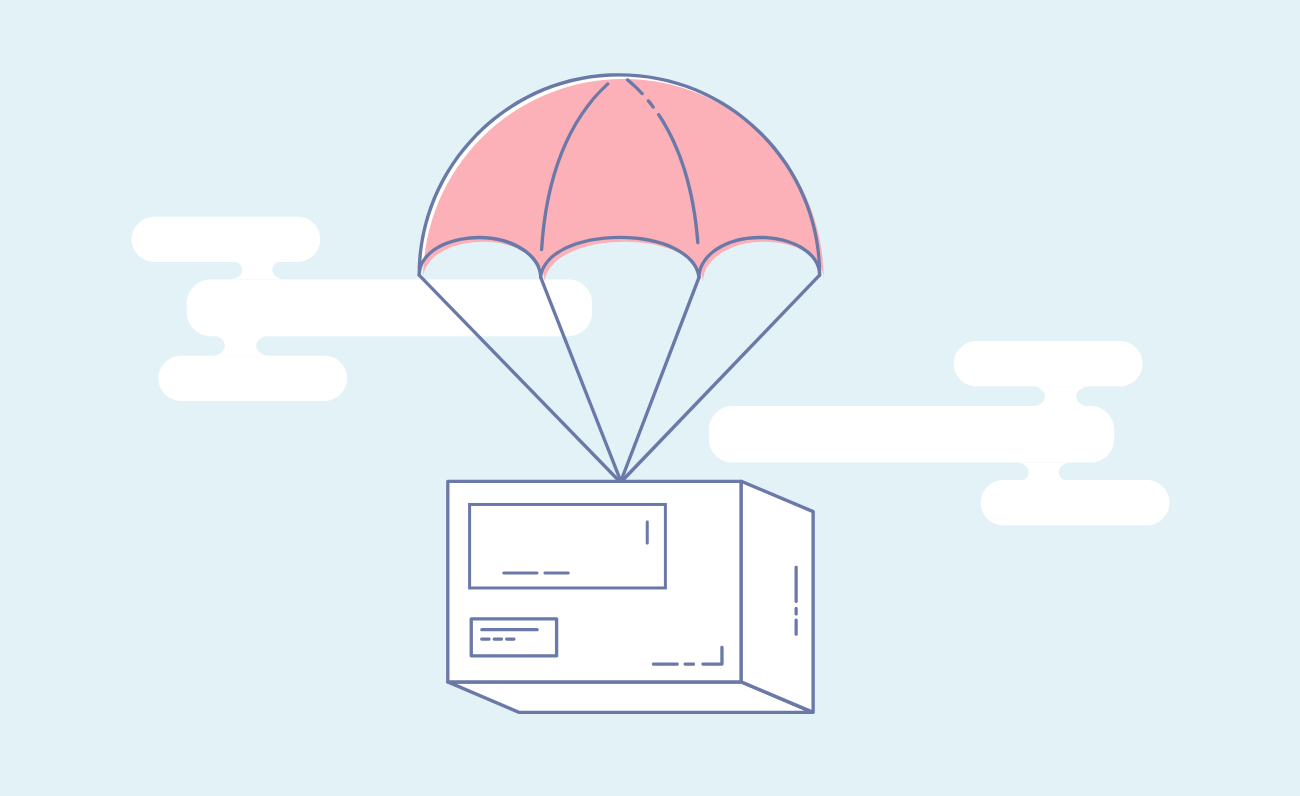 Ecommerce shipping and delivery illustration